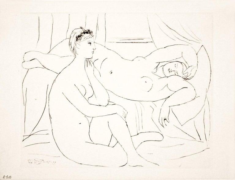 Pablo Picasso Nude Print - Deux Femmes se reposant (S.V. 10) Bloch 143