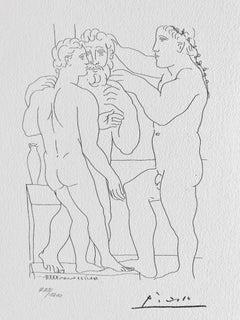 Deux Hommes sculptés (Suite Vollard Planche LII)