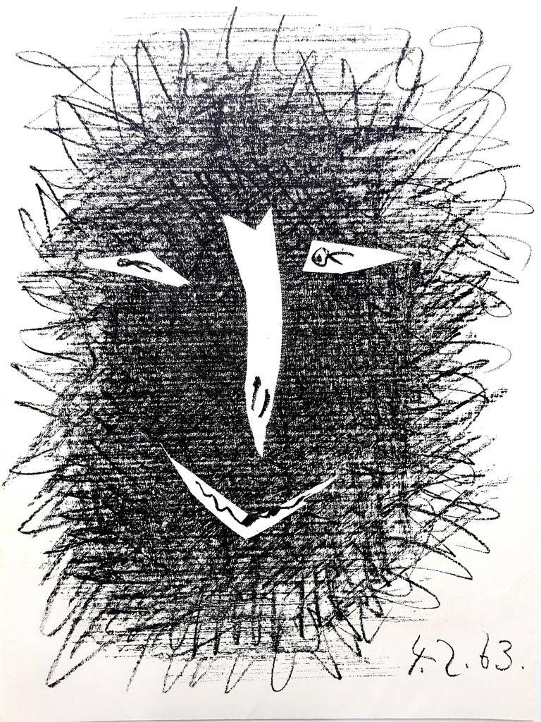 """Pablo Picasso Figurative Print - """"Deux Masques"""" - Original Lithograph"""