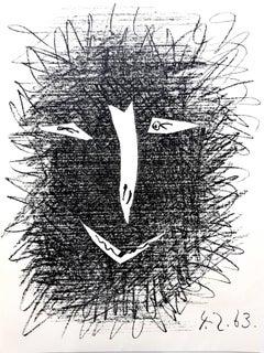 """Pablo Picasso - """"Deux Masques"""" - Lithograph"""