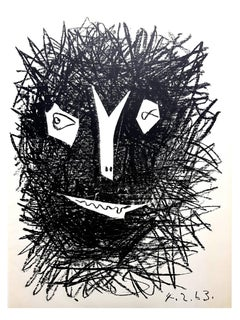 """Deux Masques"" - Original Lithograph"