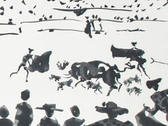 Echan Perros al Toro (Releasing Dogs on the Bull)