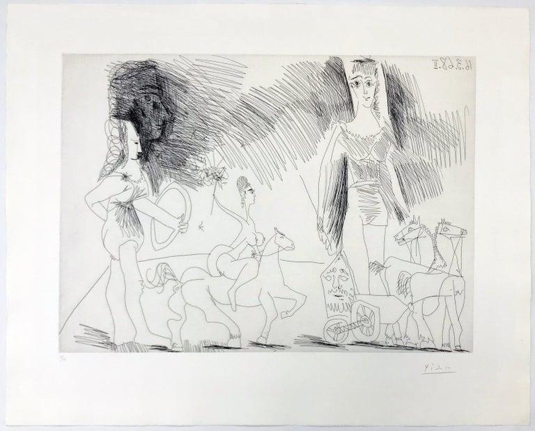 ÉCUYERES ET JONGLEUSE (BLOCH 1482) - Print by Pablo Picasso
