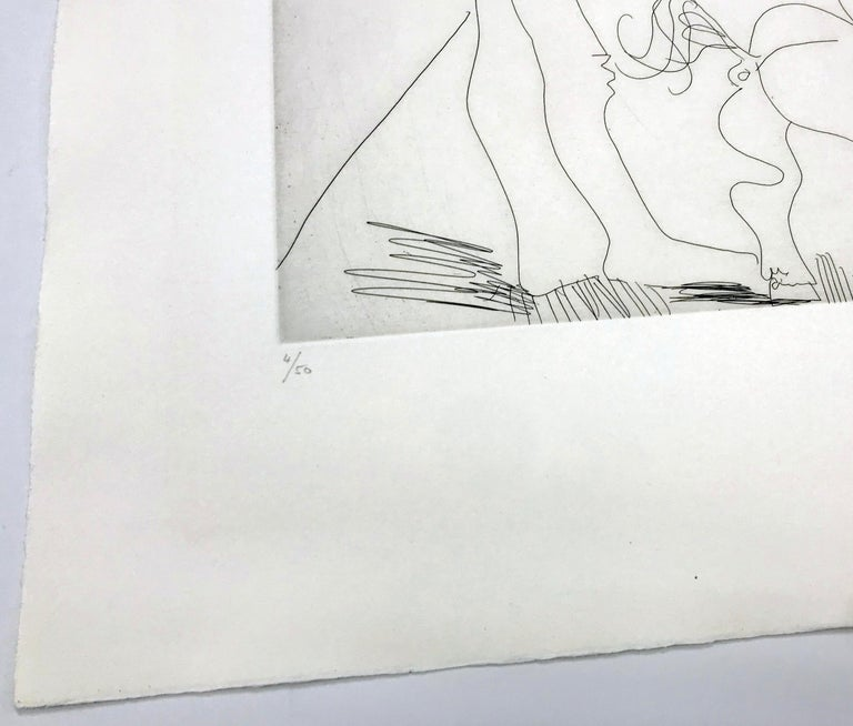 ÉCUYERES ET JONGLEUSE (BLOCH 1482) - Cubist Print by Pablo Picasso