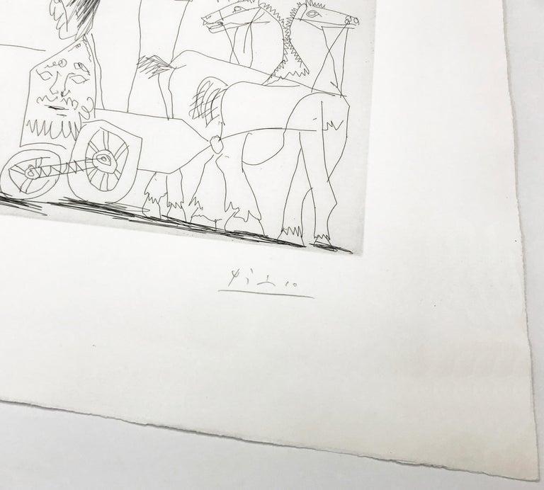 ÉCUYERES ET JONGLEUSE (BLOCH 1482) - Gray Figurative Print by Pablo Picasso