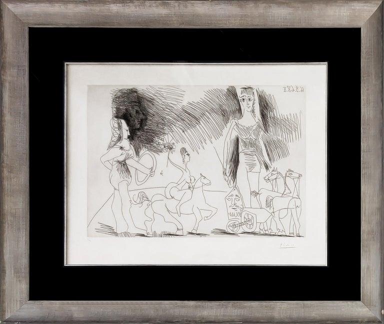 Pablo Picasso Figurative Print - ÉCUYERES ET JONGLEUSE (BLOCH 1482)