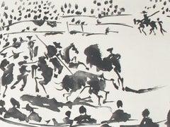 El Picador Obligando al Toro con su Pica (The Horseman Forcing the Bull with a S
