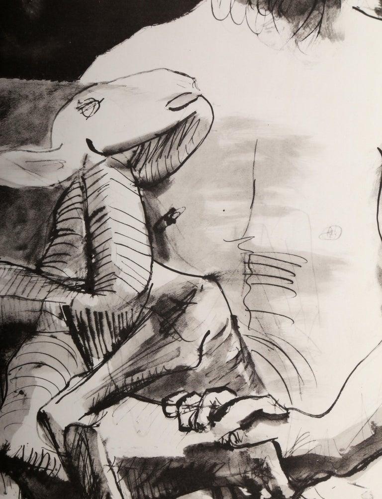 Etude pour l'Homme au Mouton - Modern Print by Pablo Picasso