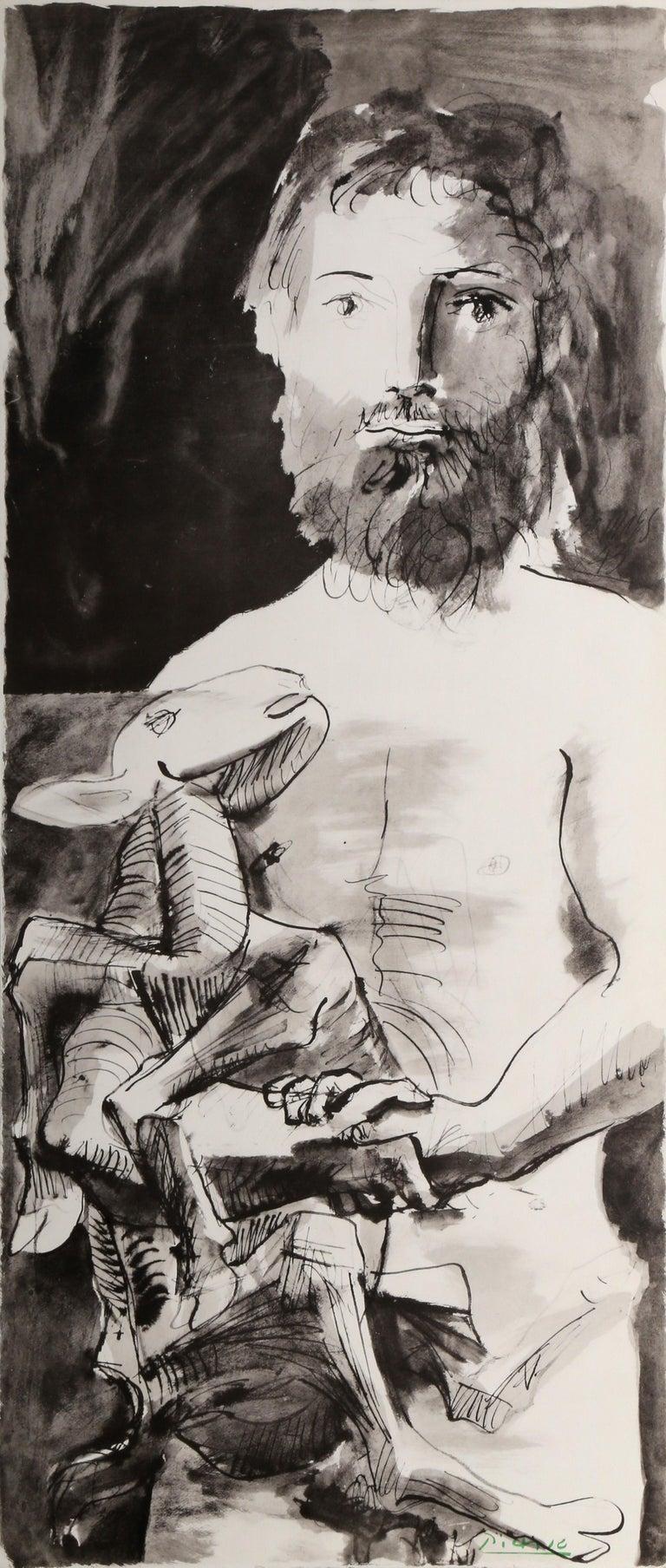 Pablo Picasso Animal Print - Etude pour l'Homme au Mouton
