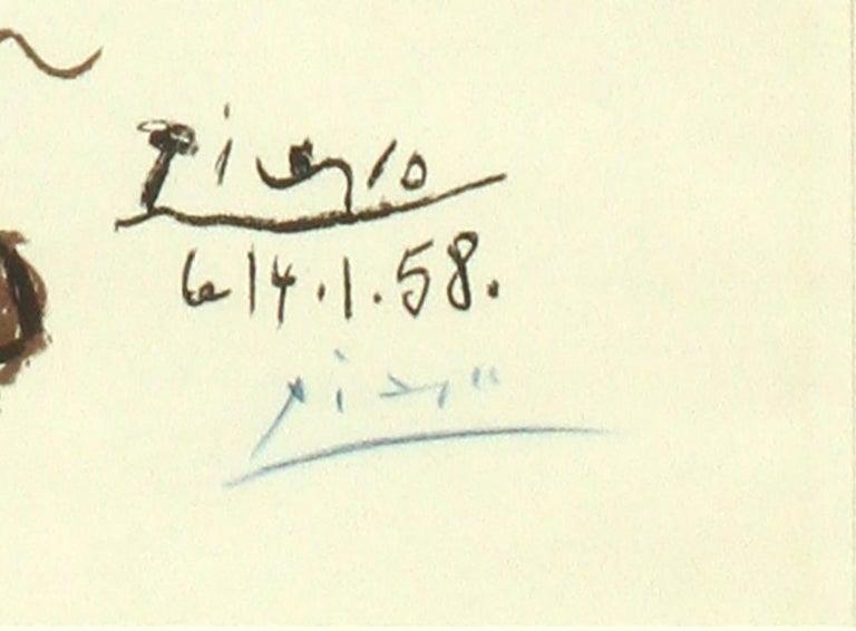 EXPOSITION DE CERAMIQUES 1958 - Analytic Cubist Print by Pablo Picasso