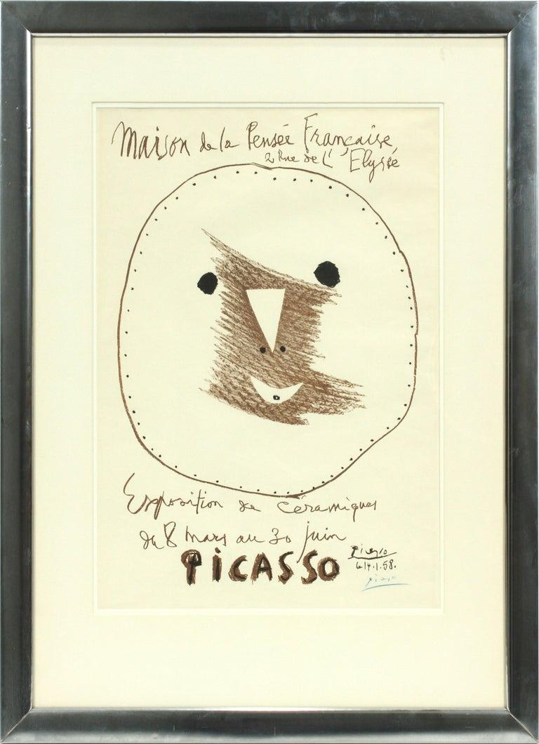 Pablo Picasso Print - EXPOSITION DE CERAMIQUES 1958