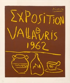 """Exposition Vallauris 1962"""" hand signed Vintage Exhibition Poster"""