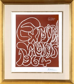 Exposition Vallauris 1964, signed Linocut by Pablo Picasso