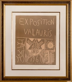 Exposition Vallauris (Bloch 1295), Linocut by Pablo Picasso 1961