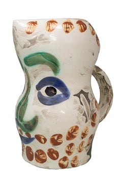 'Face with Points (Visage aux points)' Madoura ceramic pitcher, Edition Picasso