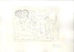 Famille de Saltimbanques - Original Etching by Pablo Picasso - 1933