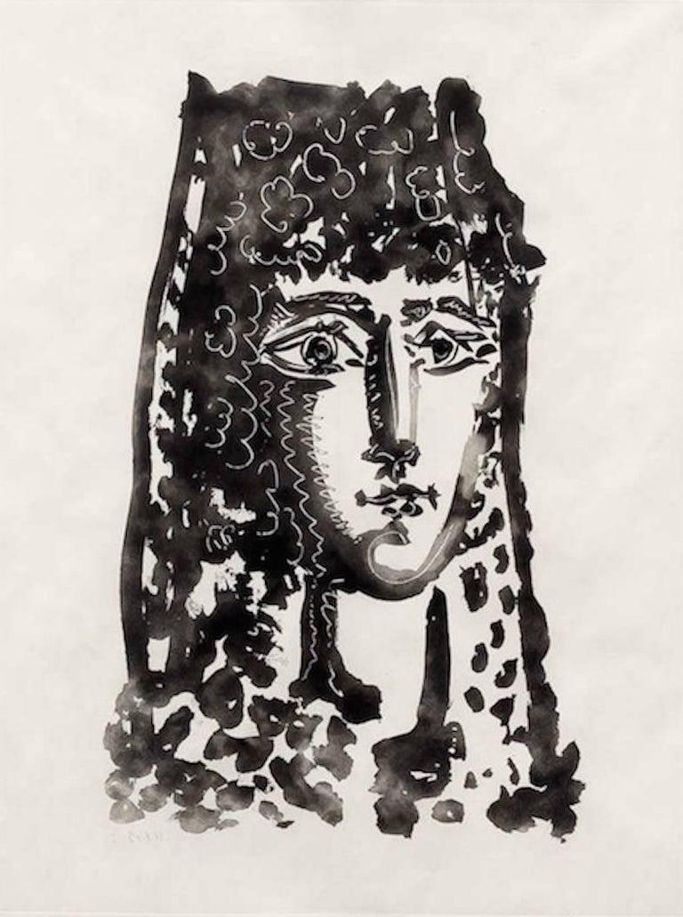 """Pablo Picasso Figurative Print - Femme a la Mantille- Carmen, from """"Le Carmen des Carmen"""""""