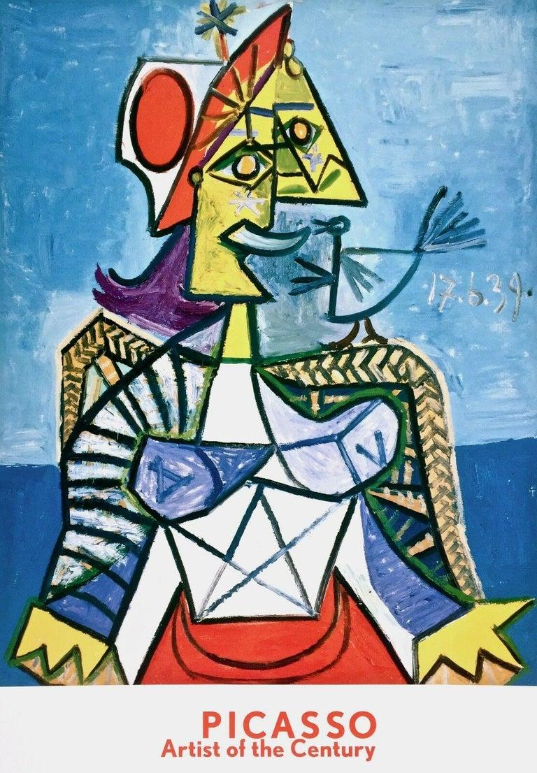 Femme a L'Oiseau, 1999 Exhibition Offset Lithograph - Print by Pablo Picasso