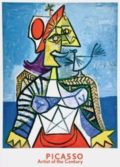 Femme a L'Oiseau, 1999 Original Exhibition Lithograph, After Pablo Picasso