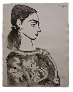 Femme au Corsage à Fleurs (Bloch 846)