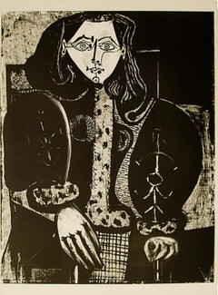 Pablo Picasso: Femme au Fauteuil No. 1 (d'après le rouge) (M134)