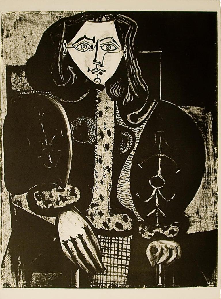 Pablo Picasso: Femme au Fauteuil No. 1 (d'après le rouge) (M134) - Print by Pablo Picasso