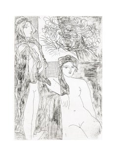 Femme au Voile, Modèle assis et Tête de Rembrandt (S.V. 35) B215