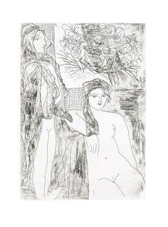 Femme au Voile, Modèle assis et Tête de Rembrandt (S.V. 35) (Bloch 215)