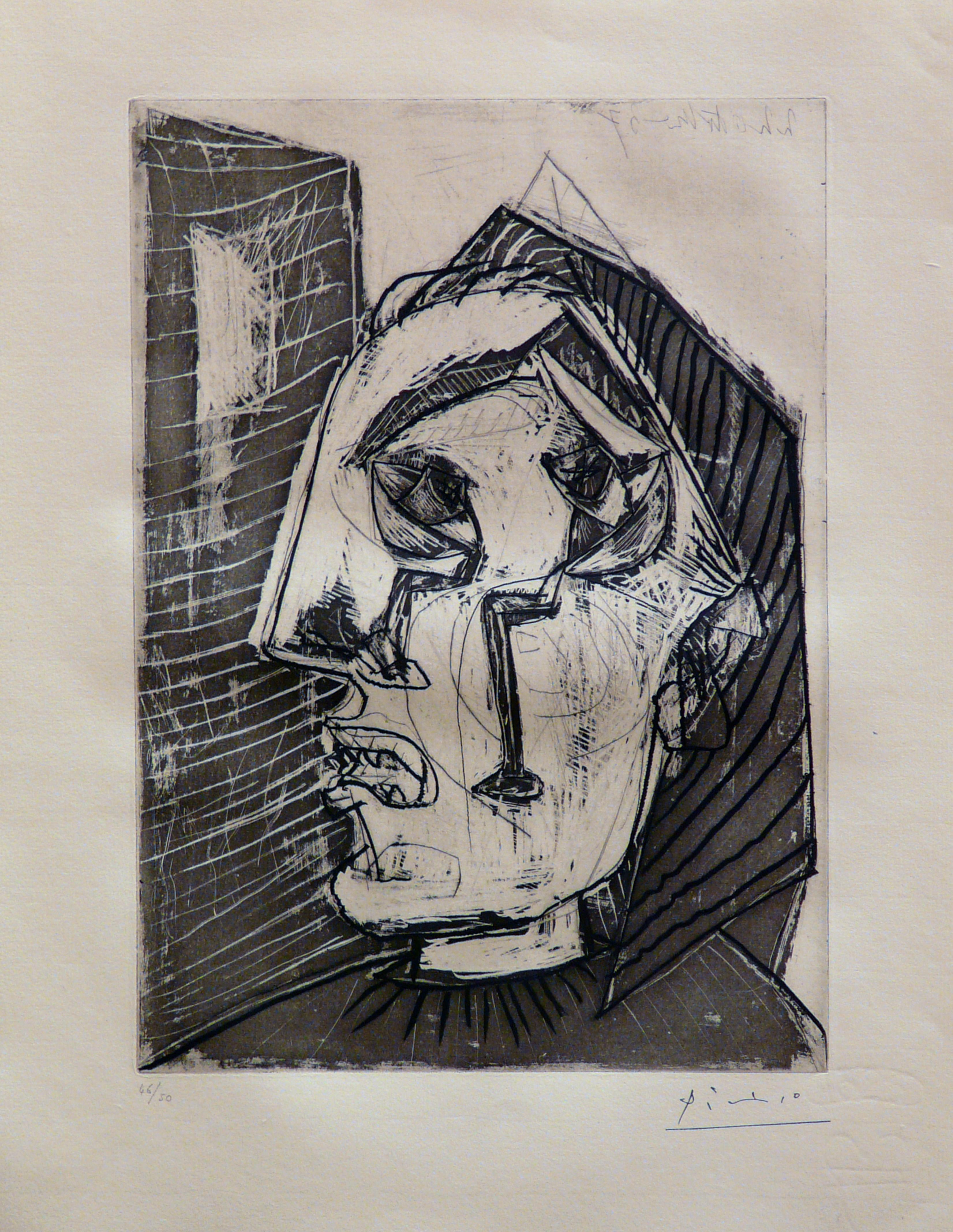 Femme qui pleure devant un Mur (Bloch 302)