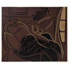 Femme Regardant par la Fenêtre, from suite Pablo Picasso - Grabados al Linóle