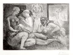 Femmes entre Elles avec Voyeur sculpté. Clin d'Oeil au Bain turc (S.V. 82) B219