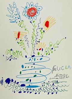 Fleurs; Flowers, a lithograph by Pablo Picasso