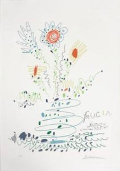 Fleurs (for UCLA); 1961; Color lithograph on Arches paper; 29 x 20 1/2 inches