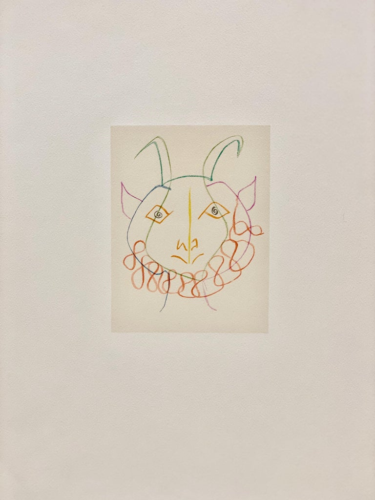 """Pablo Picasso Abstract Print - From the Book """"Dans L'atelier de Picasso"""" (by Jamie Sabartes)"""