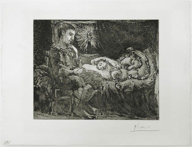 GARCON ET DORMEUSE A LA CHANDELLE (BLOCH 226) - Print by Pablo Picasso