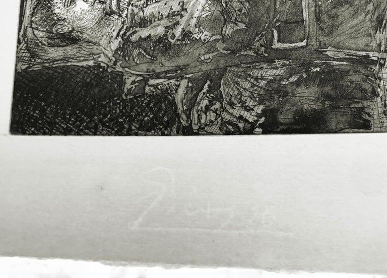 GARCON ET DORMEUSE A LA CHANDELLE (BLOCH 226) - Cubist Print by Pablo Picasso