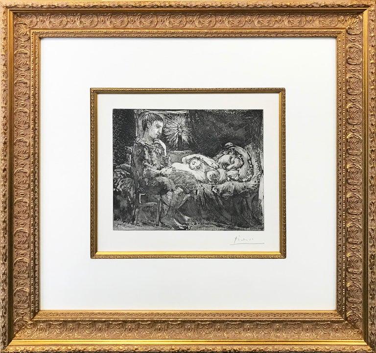 Pablo Picasso Portrait Print - GARCON ET DORMEUSE A LA CHANDELLE (BLOCH 226)