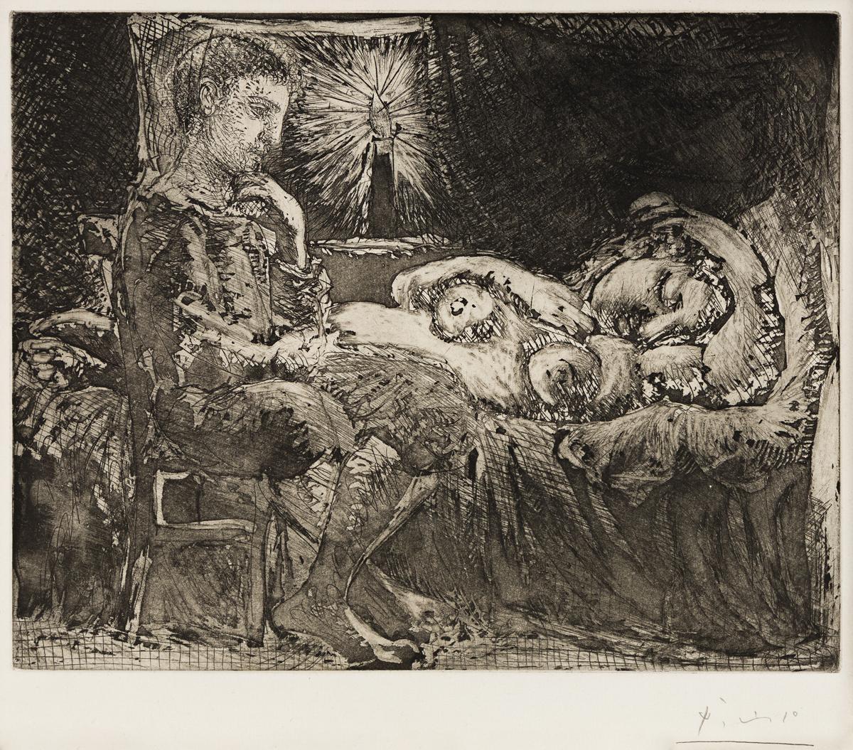 Garçon et Dormeuse a la Chandelle