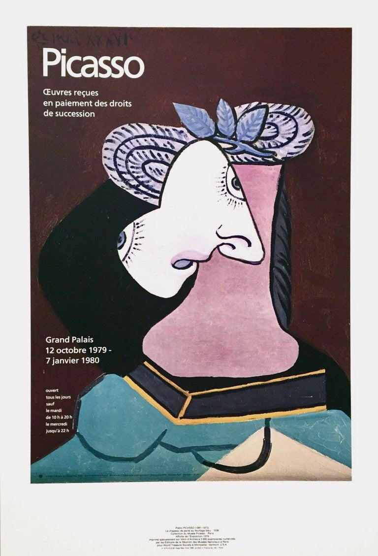 Grand Palais, 1979 Limited Edition Exhibition Offset Lithograph on Arches paper - Print by Pablo Picasso