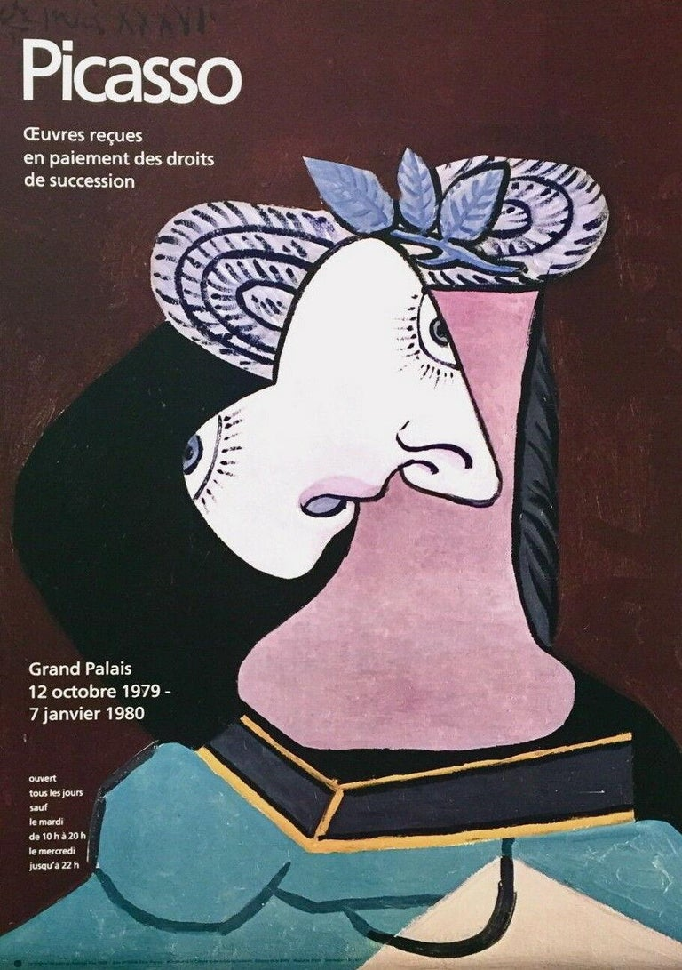 Pablo Picasso Figurative Print - Grand Palais, 1979 Limited Edition Exhibition Offset Lithograph on Arches paper