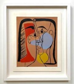 """Pablo Picasso """"Grand Tête"""" (Portrait de Jacqueline aux Cheveux lisses)"""