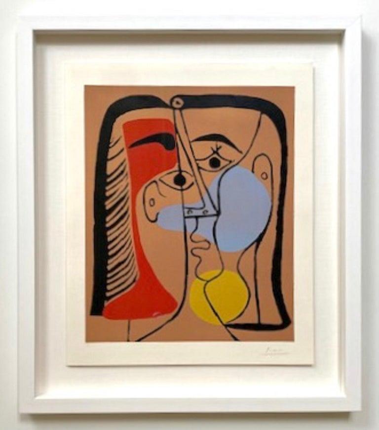 """Pablo Picasso """"Grand Tête"""" (Portrait de Jacqueline aux Cheveux lisses) - Print by Pablo Picasso"""