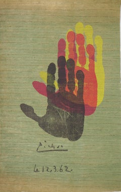 Hand of the Artist - Original lithograph - 1962