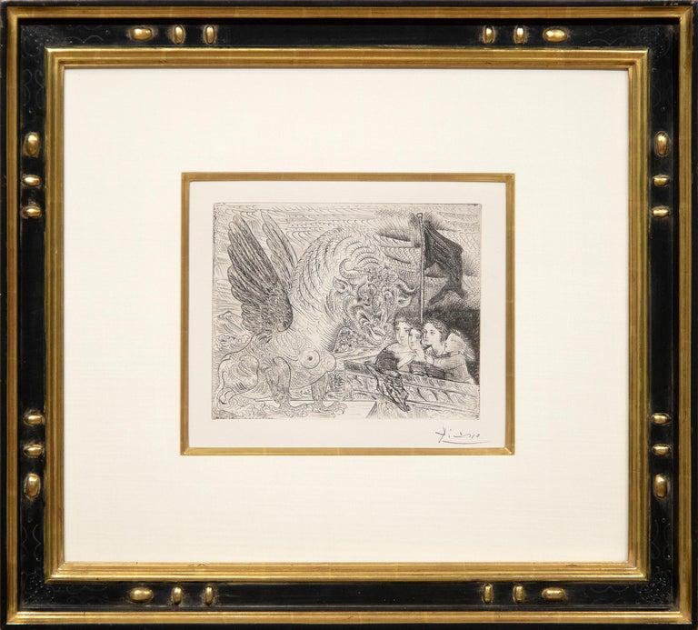 Harpye a Tete de Taureau, et Quatre Petites Filles sur une Tour Surmontee d'un D - Print by Pablo Picasso