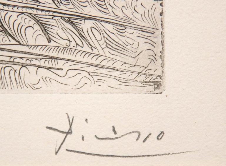 Harpye a Tete de Taureau, et Quatre Petites Filles sur une Tour Surmontee d'un D - Modern Print by Pablo Picasso