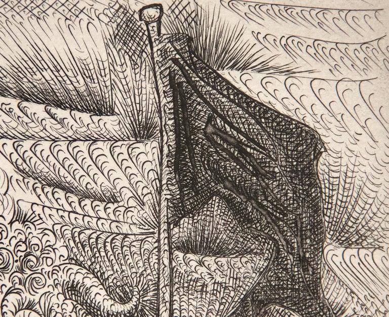 Harpye a Tete de Taureau, et Quatre Petites Filles sur une Tour Surmontee d'un D - Beige Animal Print by Pablo Picasso