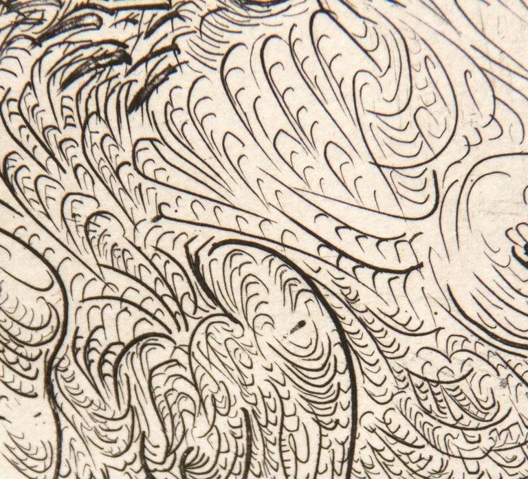 Harpye a Tete de Taureau, et Quatre Petites Filles sur une Tour Surmontee d'un D For Sale 2
