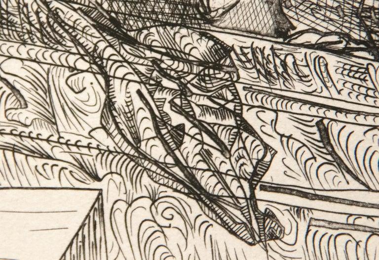 Harpye a Tete de Taureau, et Quatre Petites Filles sur une Tour Surmontee d'un D For Sale 3