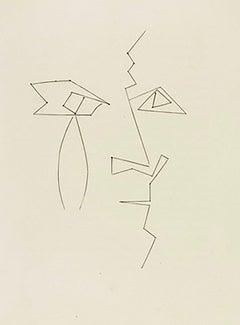 Head of a Man in Broken Lines (Plate XXXIV)