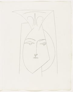 Head of a Woman with Mantilla (Plate I)